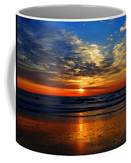 Electric Golden Ocean Sunrise Coffee Mug
