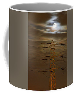 Electric Tower Under Supermoon Coffee Mug