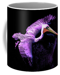 Coffee Mug featuring the photograph Elegant Flight In Violet by Howard Bagley