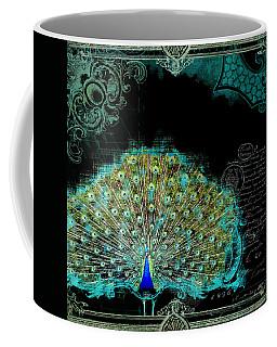 Elegant Peacock W Vintage Scrolls 3 Coffee Mug