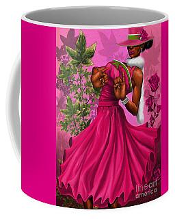 Elegant Pink And Green Coffee Mug