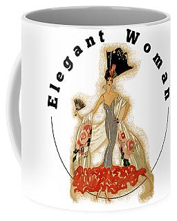 Coffee Mug featuring the digital art Elegant Woman by Robert G Kernodle
