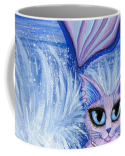 Coffee Mug featuring the painting Elemental Water Mermaid Cat by Carrie Hawks