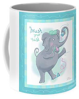 Elephant Bath Time Brush Your Tusk Coffee Mug
