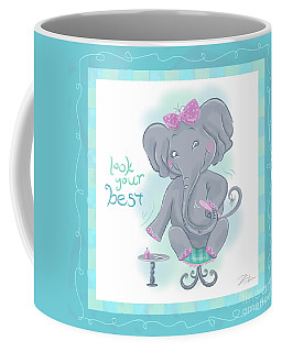 Elephant Bath Time Look Your Best Coffee Mug