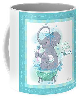 Elephant Bath Time Splish Splash Coffee Mug