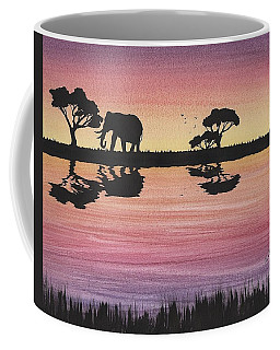 Elephant  Coffee Mug by Edwin Alverio