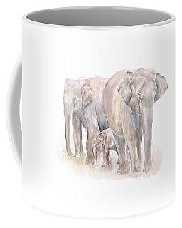 Elephant Family Coffee Mug by Elizabeth Lock
