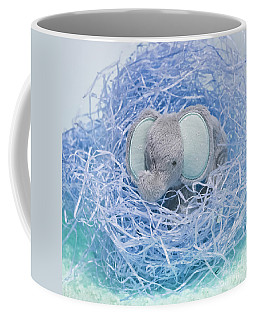 Elephant For Charity Blue Coffee Mug