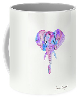 Elephant Head In Watercolour  Coffee Mug