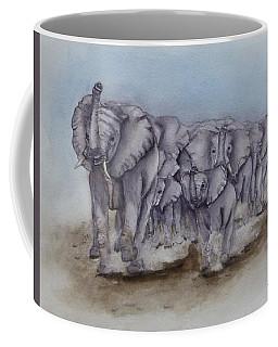 Elephant Herd Gallop Coffee Mug