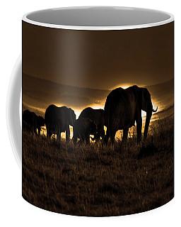 Elephant Herd On The Masai Mara Coffee Mug