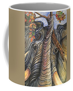 Elephant Holding A Tree Branch Coffee Mug