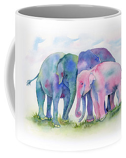 Elephant Hug Coffee Mug