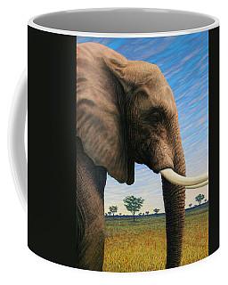 Elephant On Safari Coffee Mug