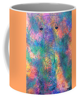 Coffee Mug featuring the painting Elephant Spirit by Denise Tomasura