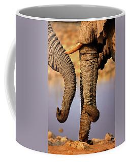 Elephant Trunks Interacting Close-up Coffee Mug