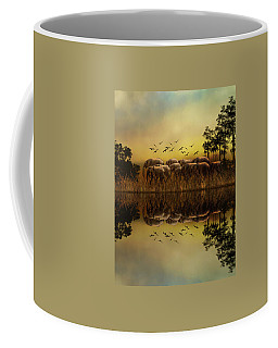 Elephants At Sunset Coffee Mug