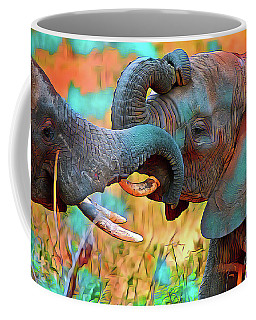 Elephants Having Fun Coffee Mug
