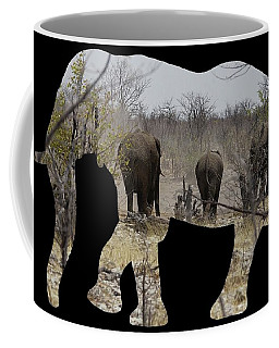 Elephants In Namibia Coffee Mug by Ernie Echols