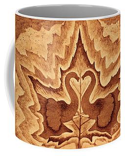 Elephants Love Original Coffee Painting Coffee Mug by Georgeta Blanaru