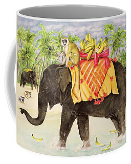 Elephants With Bananas Coffee Mug