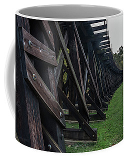 Coffee Mug featuring the photograph Harpers Ferry Elevated Railroad by Ed Clark