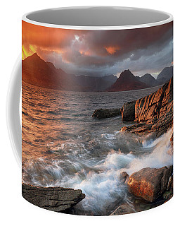 Coffee Mug featuring the photograph Elgol Stormy Sunset by Grant Glendinning