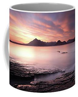 Coffee Mug featuring the photograph Elgol Sunset by Maria Gaellman