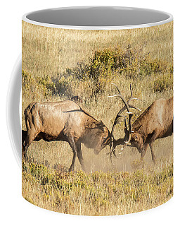 Elk Bulls Battle Coffee Mug