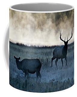 Elk In The Mist Coffee Mug