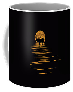 Elk In The Moonlight Coffee Mug