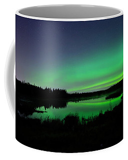 Elk Island Aurora Reflections Coffee Mug