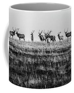 Elk On The Ridge Coffee Mug by Jay Stockhaus