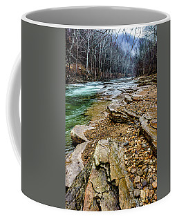 Coffee Mug featuring the photograph Elk River In The Rain by Thomas R Fletcher