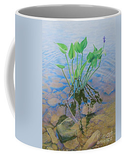 Coffee Mug featuring the painting Ellie's Touch by Pamela Clements