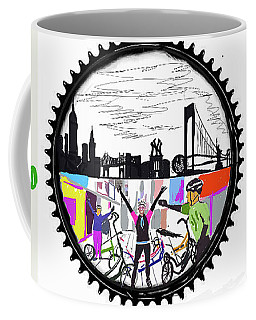 elliptiGO meets the 5 boros bike tour Coffee Mug