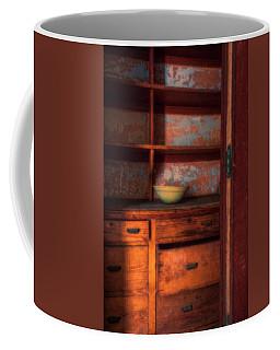 Coffee Mug featuring the photograph Ellis Island Cabinet by Tom Singleton