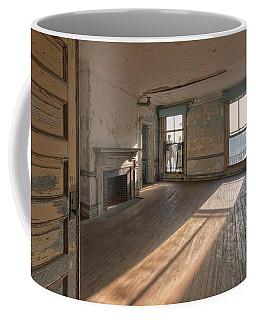 Coffee Mug featuring the photograph Ellis Island Staff House by Tom Singleton