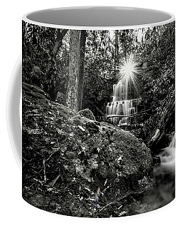 Elora Falls In Black And White Coffee Mug
