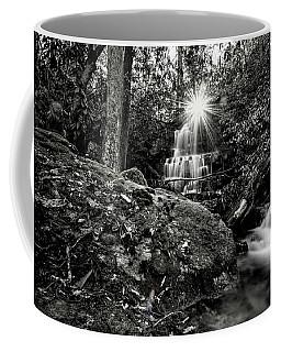 Elora Falls In Black And White Coffee Mug