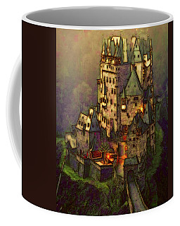 Coffee Mug featuring the digital art Eltz Castle by Michael Cleere