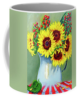 Elvie's Sunflowers Coffee Mug