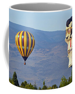 Coffee Mug featuring the photograph Elvis In The Sky by AJ Schibig