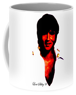 Coffee Mug featuring the mixed media Elvis By Loxi Sibley by Loxi Sibley