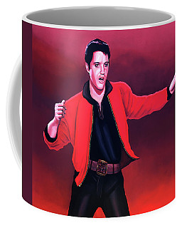 Elvis Presley 4 Painting Coffee Mug