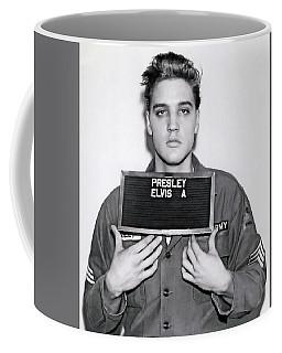 Elvis Presley Army Mugshot 1960 Coffee Mug