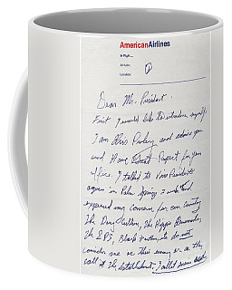 Elvis Presley Letter To President Richard Nixon Coffee Mug