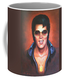 Coffee Mug featuring the painting Elvis Presley by Loxi Sibley