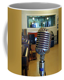 Coffee Mug featuring the photograph Elvis Presley Microphone by Mark Czerniec